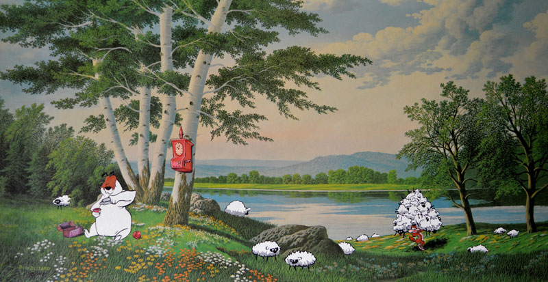 thrift-store-paintings-by-david-irvine-gnarled-branch-5