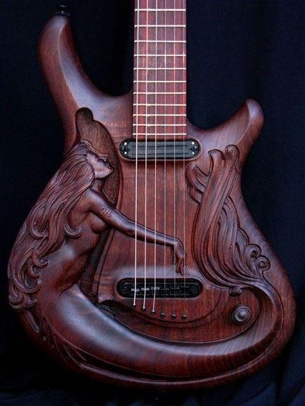 sweet_guitar_carved_mermaid_with_hair_and_underboob_brown_beautiful