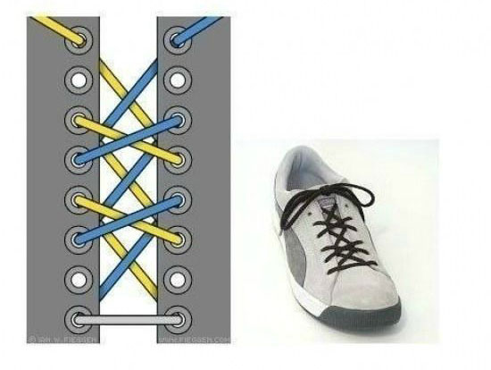 ways_to_tie_shoes_five_crosses