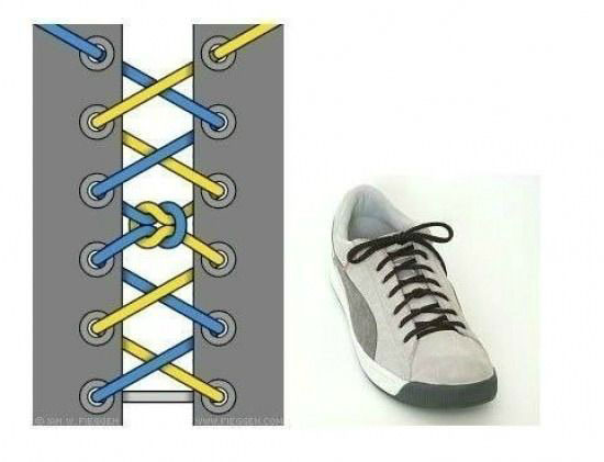 ways_to_tie_shoes_middle_knot