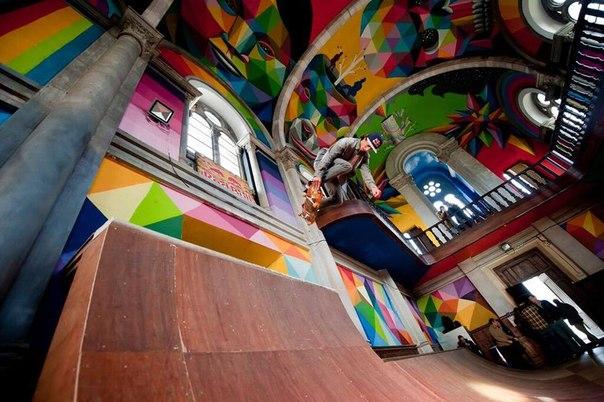 Церква стала скейт-парком