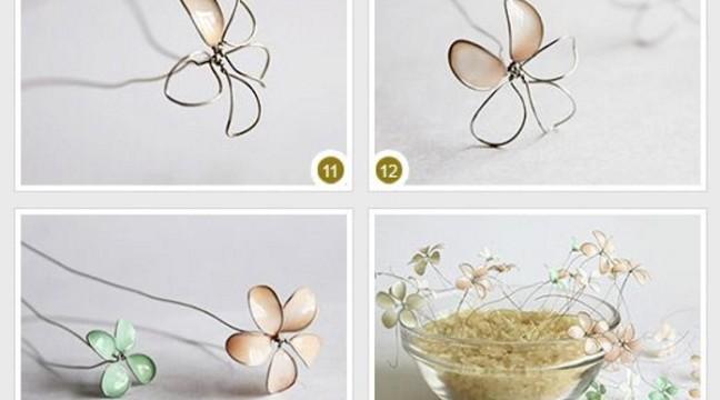 Маленький дріт + лак для нігтів = красиві квіточки