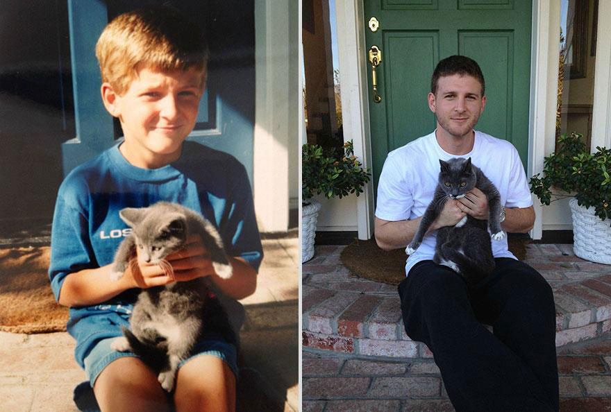 cute-pets-before-after-boy-doorstep