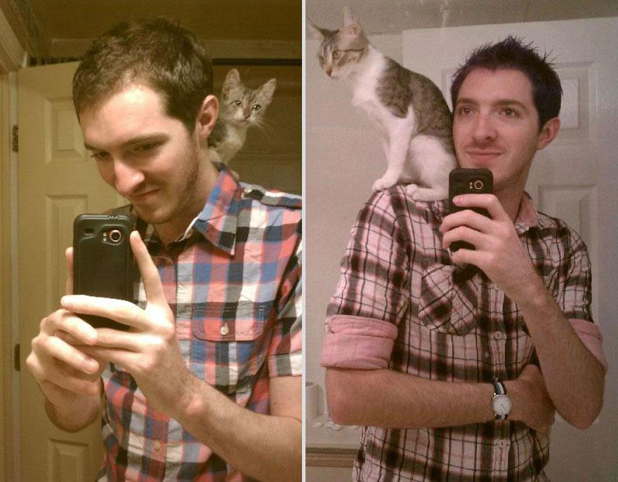 cute-pets-before-after-selfie