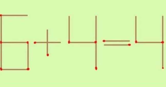 Перемістіть один сірник так, щоб приклад став вірним і відповідь зійшлася