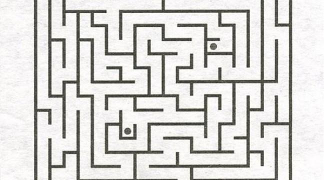 Знайди шлях від однієї точки до іншої