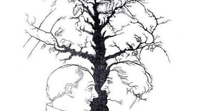 Скільки обличь на картинці?