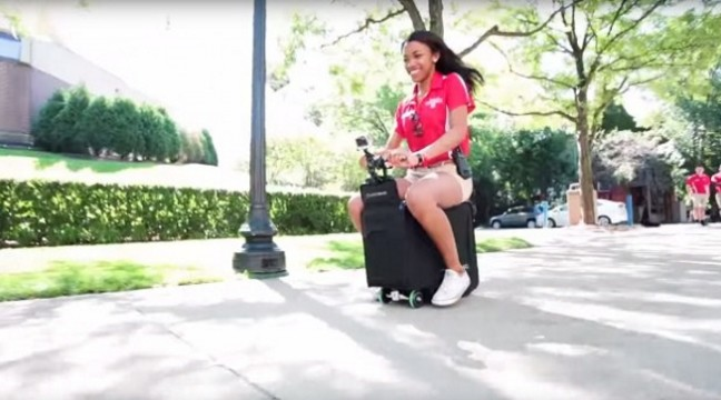 Новий крутий винахід – валіза, яка везе не лише речі, а й вас