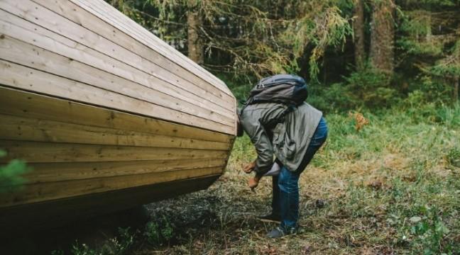 Студенти побудували у лісі дерев'яні мегафони, щоб насолоджуватися звуками природи
