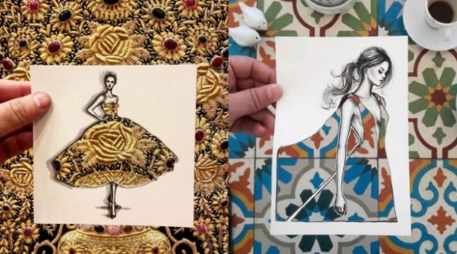 Оригінальні ескізи плать від Шамека Аль-Блуві. Дуже круто придумав!