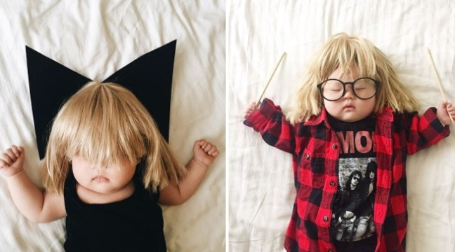 Поки 4-місячна дівчинка спала, мама зробила з неї справжню зірку інтернету