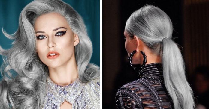 Бабуся-стайл: у моду входить сиве волосся. Фото