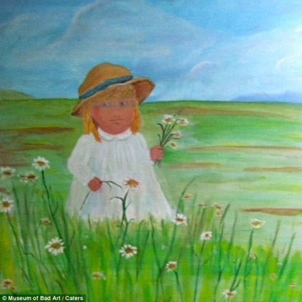 Портрет невинності: молода дівчина в білому платті і солом'яному капелюсі збирає ромашки в полі