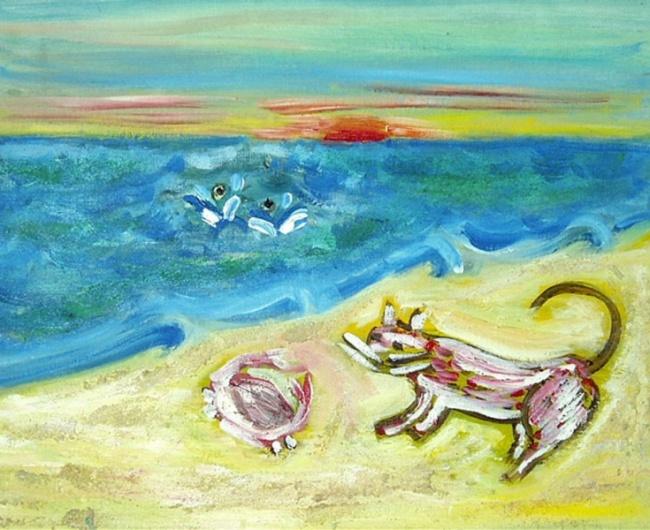 Захід на березі