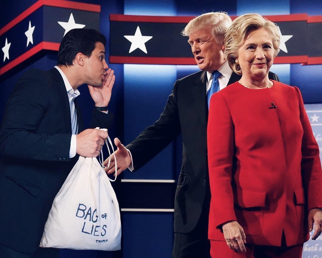 """""""Вибачте, містере Трамп. Мені здається, ви забули свій пакет з брехнею"""""""