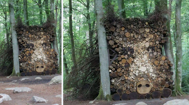 Коротко про те, як талановиті митці заготовляють дрова на зиму