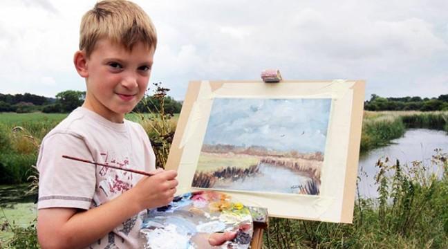 """Завдяки своєму таланту, 13 річний художник отримав прізвисько """"маленький Моне"""""""
