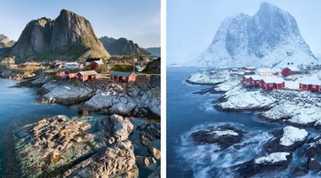 """10 фото """"до"""" і """"після"""" — як зима перевтілює землю"""