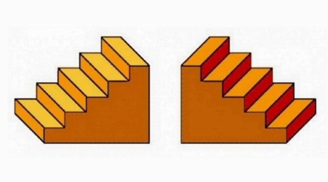 Зосередьтеся на картинці: якими сходами ви піднімаєтеся, а якими спускаєтеся вниз?