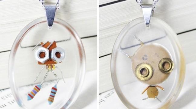 Дівчина перетворює різні болтики-гаєчки у милих крихітних роботів