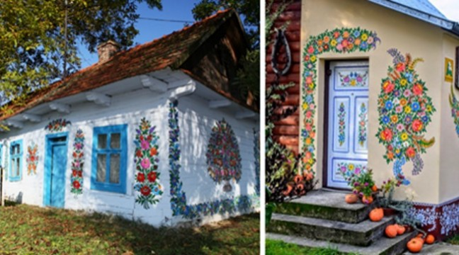 Знахідка для туристів: колоритне польське село, де усі будинки покриті красивими розписами