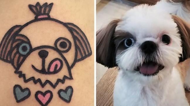 Південнокорейський художник перетворює фото домашніх улюбленців у смішнючі татуювання