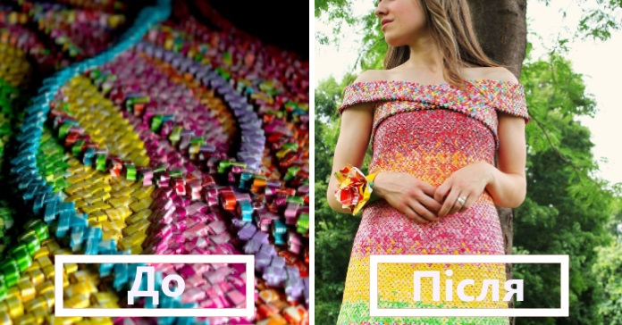 Дівчина потратила 4 роки і 10 000 кольорових фантиків Starburst, щоб зробити цю унікальну сукню