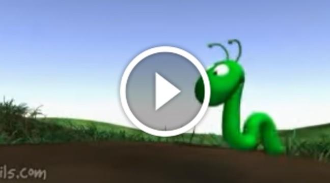 Кумедний мультик про черв'яка і келих вина