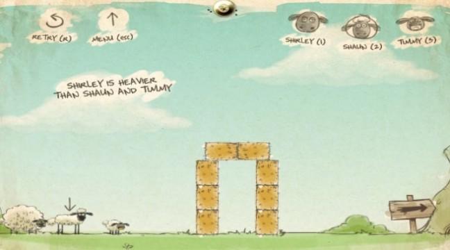 Гра-головоломка: Відведи овечок додому