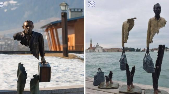 Фантастичні статуї-невидимки на вулицях французького Марселя