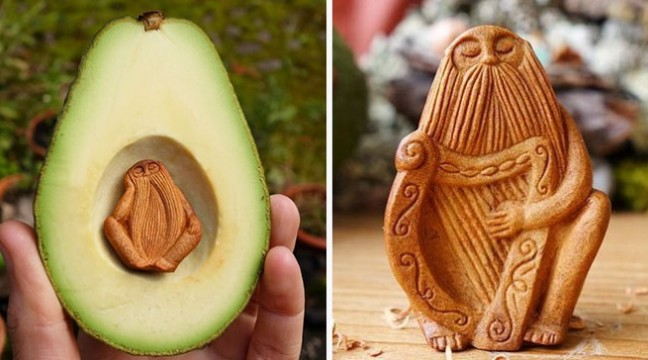 Майстер робить дивовижні фігурки зі звичайних кісточок авокадо