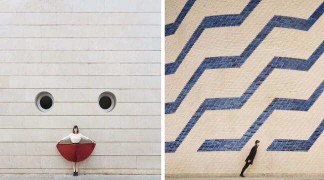 Пара мандрує світом, граючись з місцевою архітектурою. Виходять просто фантастині фото