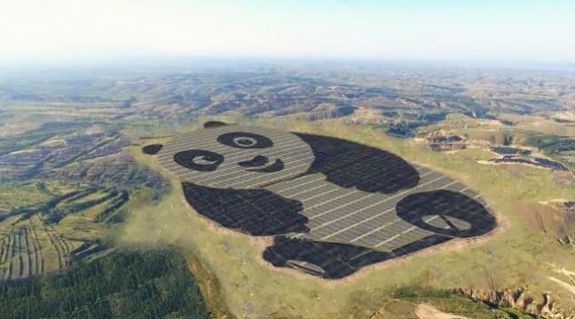 В Китаї побудували найсимпатичнішу сонячну електростанцію у світі – вона у формі панди