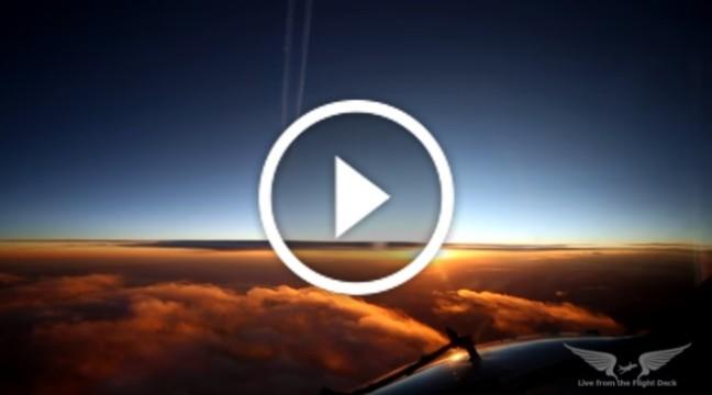 Відчуй себе пілотом. Надзвичайно красиве відео, зняте з кабіни літака