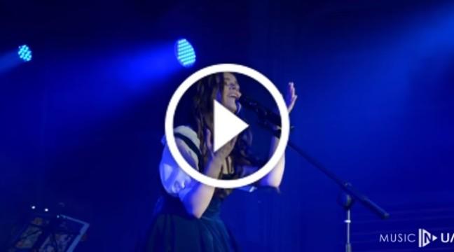 """Унікальне відео.  День, коли Христина Соловій вперше виконала свою авторську """"Синю пісню"""""""