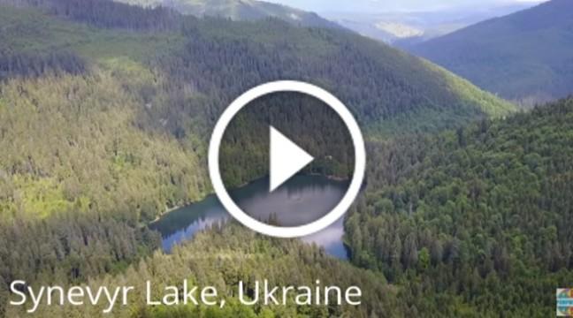 Озеро Синевир. Одне з семи чудес України показали з висоти пташиного лету